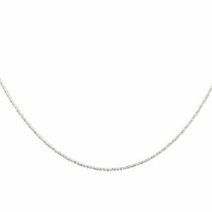 Silberkettchen gedreht diamantiert