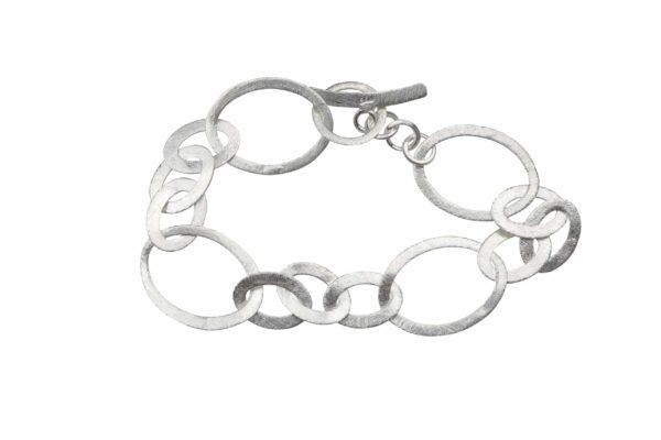 Silberarmband oval klein/ groß