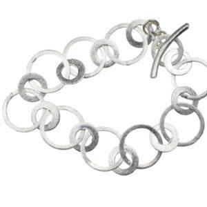 Silberarmband rund