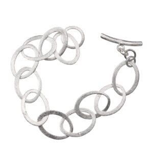Silberarmband oval