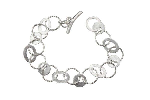 Silberarmband Seil/ Muschel