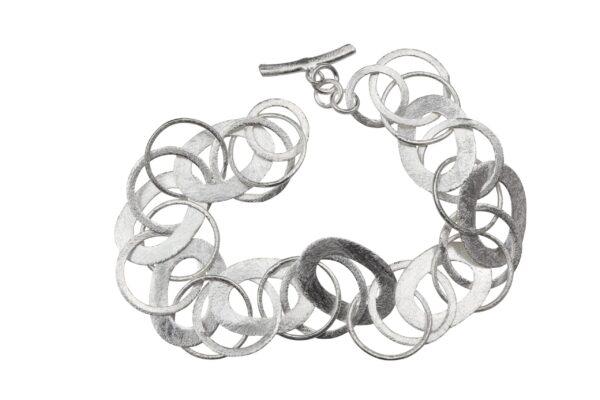 Silberarmband oval und Ringe