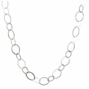 Silberkette Ovale 2 Größen breit
