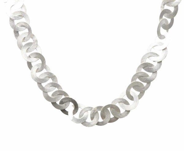 Silberkette Rund breite Glieder