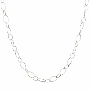Silberkette Ovale 2 Größen schmal