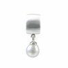 Silberanhänger massiv Rohr matt/glanz und hängende Perle kleiner