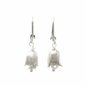 Silberohrhänger Maiglöckchen mit Perle