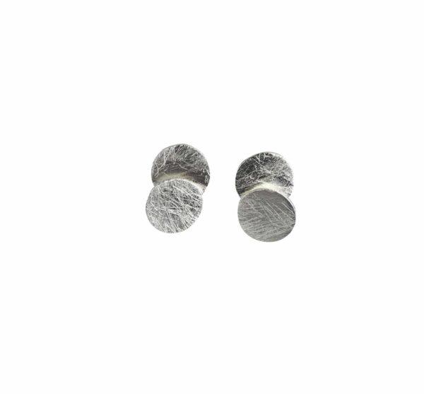 2 runde Platten Silberstecker