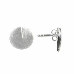 Ohrstecker runde Platte