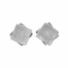 Silberohrstecker 2 quadratische Platten gebürstet/glatt