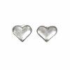 Silberohrstecker Herzschale klein, glanz, gebürstet
