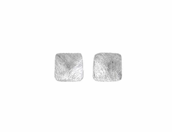 Silberohrstecker klein vertieft