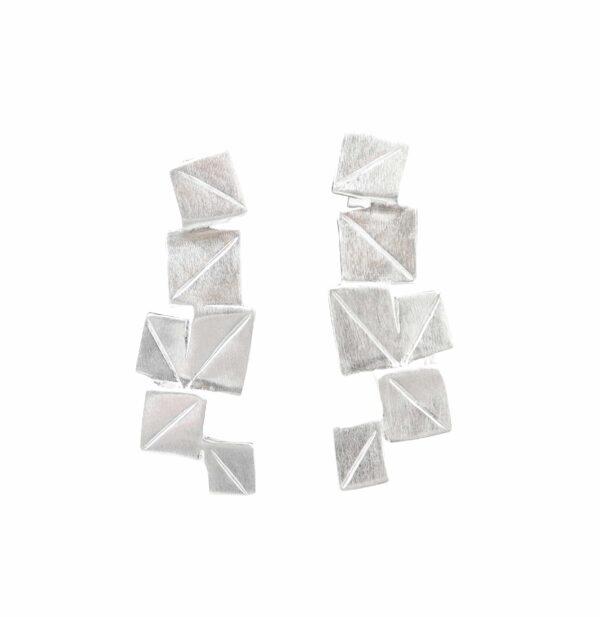 Silberohrstecker quadratisches Plättchen