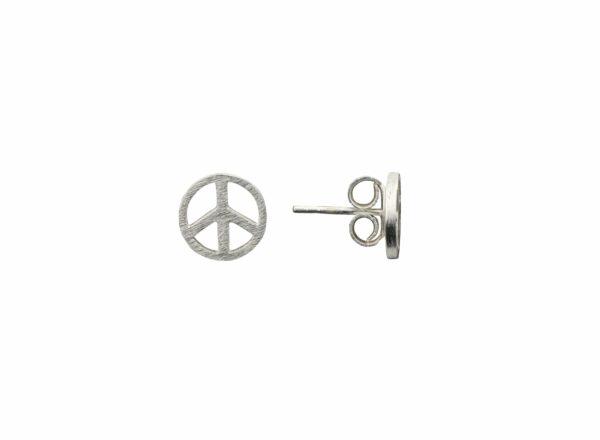 Silberohrstecker Peace quer