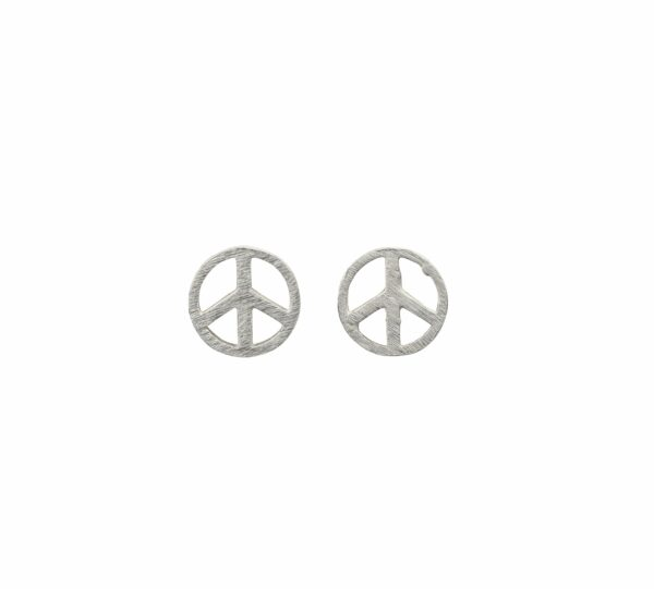 Silberohrstecker Peace