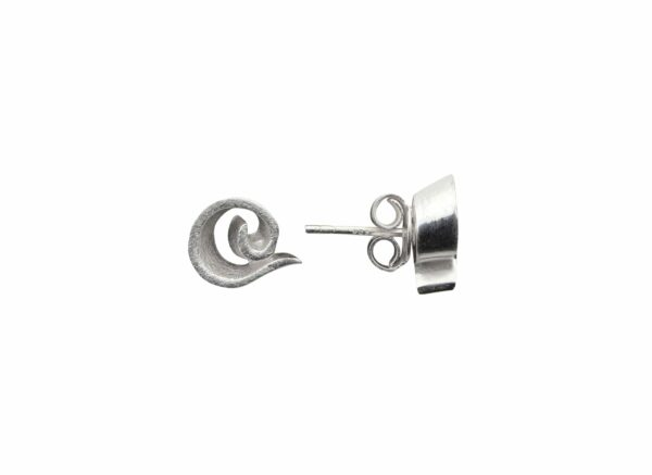 Silberohrstecker Spiralen innen gebürstet außen glatt quer