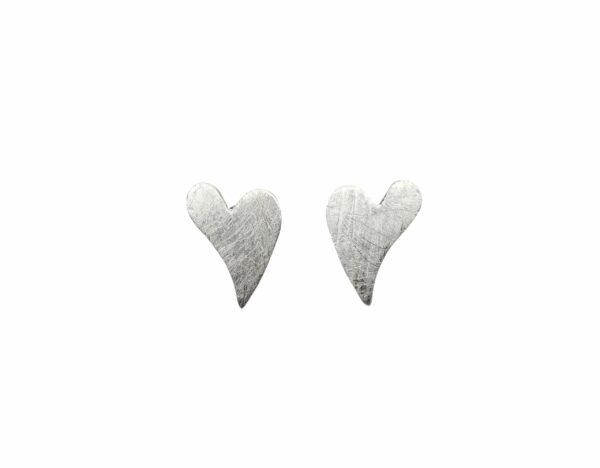 Silberohrstecker Herz moderne Form