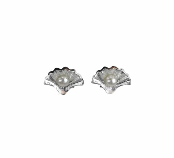 Silberohrstecker Muschel mit Perle