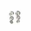 Silberohrstecker 3 Blüten mit Perle