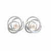 Silberohrstecker 3 Kreise zusammen mit Perle