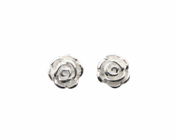 Silberohrstecker Rose mittel
