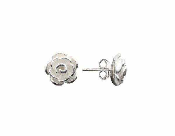 Silberohrstecker Rose groß quer