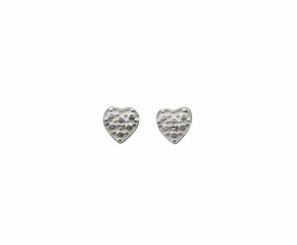 Silberohrstecker Herzen Diamantimitierung