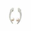 Silberohrstecker Säbel mit Perle