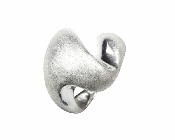 Ring wie schwangere Auster Silber