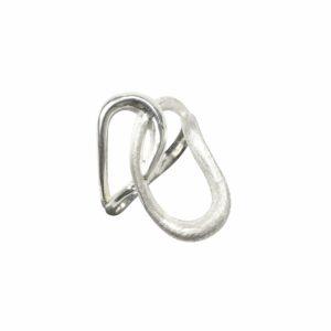 Ring aus 2 Lasso`s matt/glatt