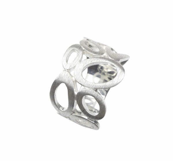 Ring mit durchbrochenen Ovalen Silber