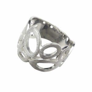 Ring mit durchbrochenen Ovalen