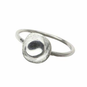 Ring mit 2 Platten matt/glatt