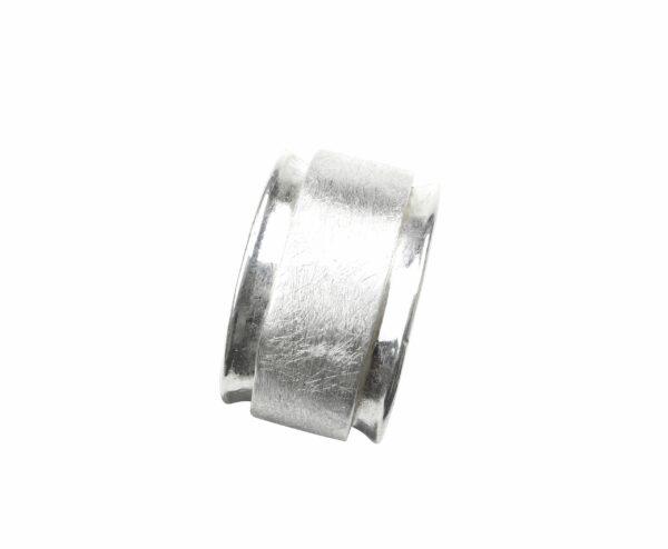 Ring in Ring glatt/matt Silber