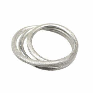 Ring mit 3 mattierten Ringen