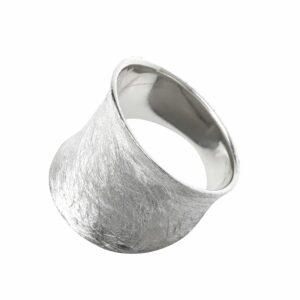 Ring schlicht gebürstet breit