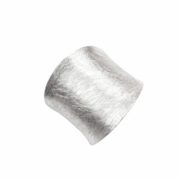 Ring schlicht gebürstet breit Silber oben
