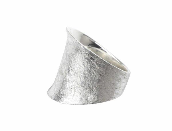 Ring schlicht gebürstet breit Silber