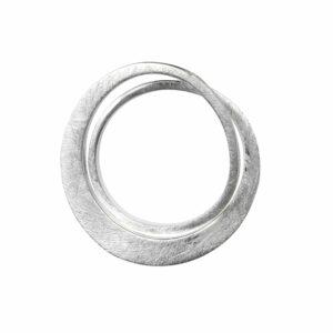 Ring mit 2 mattierten Ringen schmal/breit