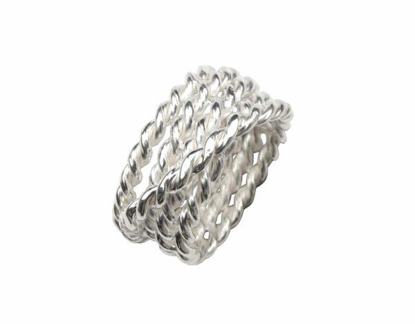 Ring aus mehreren Seilen Silber