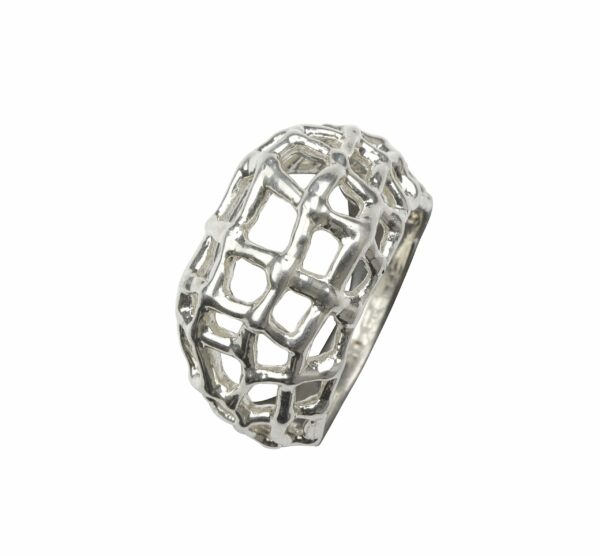 Ring als Netz Silber