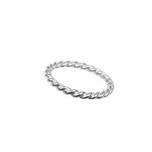 Ring wie Seil schlicht enggebunden Silber