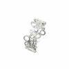 Ring mit vielen durchbrochenen Kreisen aneinander Silber