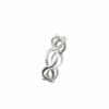 Ring Seil geflochten/glatt Ovale Silber