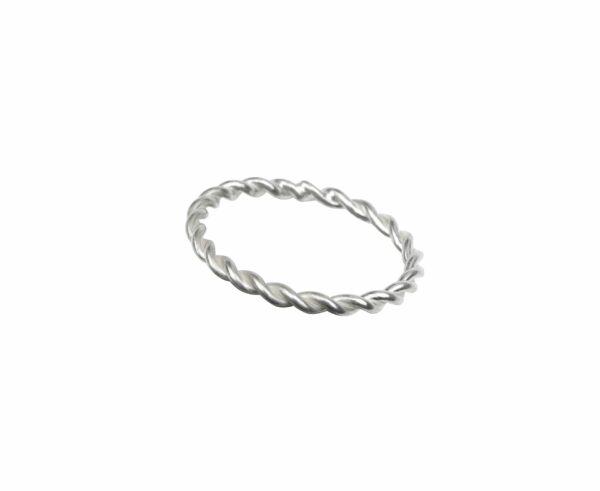 Ring wie Seil schlicht Silber