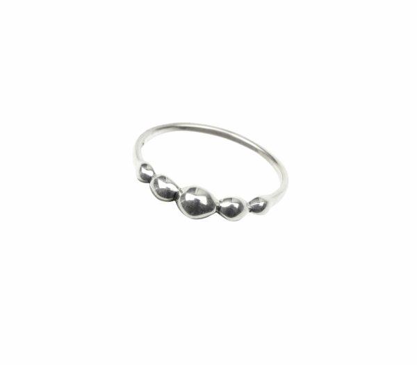 Ring mit 5 Tröpfchen Silber