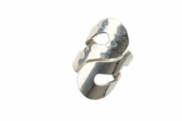 Ring glatt YingYang Silber
