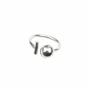 Ring mit Kugel und Stab offen (kleiner Stab)