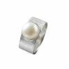 Silberring gebürstet mit Perle