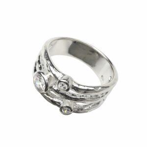 3-fach Ring jeweils mit Zirkon besetzt
